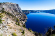 Liao Rock view from Merriam point at Crater lake, Oregon, USA