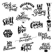 Happy Halloween Overlays, Lett...