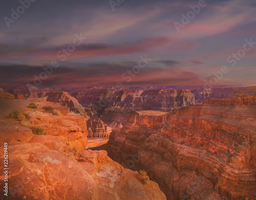 Foto op Canvas Baksteen Grand canyon,sunset Garnd canyon, Landscape scene of Grand Canyon National Park.