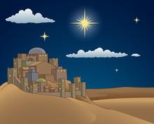 A Christmas Nativity Scene Car...