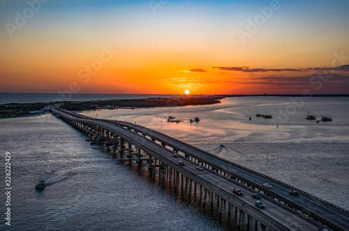 Canvas-taulu Sunset Aerial over Destin, Florida, USA