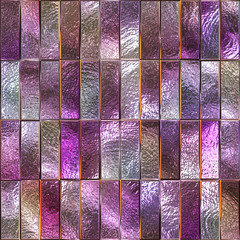 FototapetaColored glass seamless texture with square pattern for window, stained glass, 3d illustration