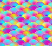 Vector Seamless Pattern, Rainb...