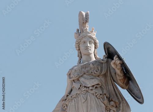 Fotografía Athena marble statue partial view, the ancient greek goddess of knowledge and wi