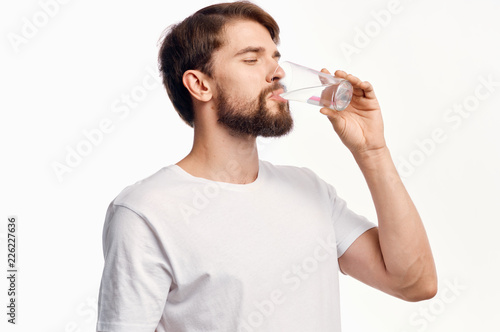 healthy lifestyle a man drinking water Wallpaper Mural