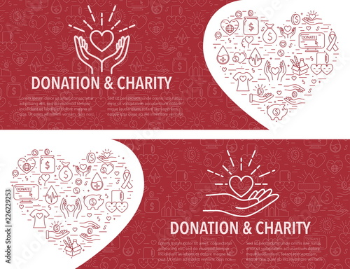 Canvas-taulu Donation banner template