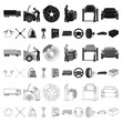Car, lift, pump and other equipment cartoon icons in set collection for design. Car maintenance station vector symbol stock illustration web.