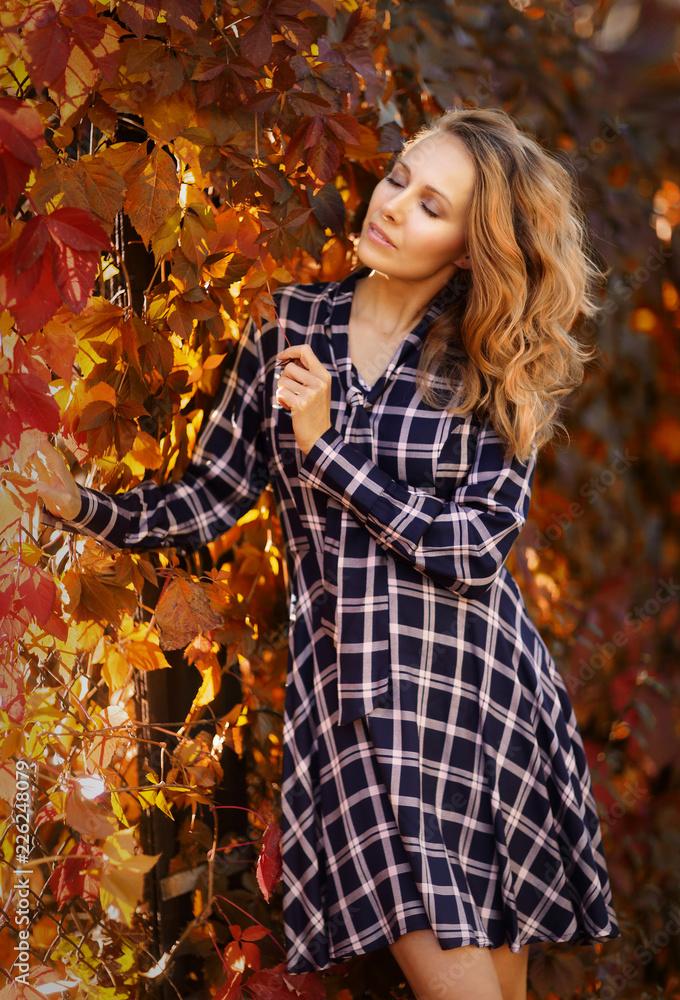 Fototapeta Jesienny portret kobiety