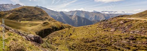 Paysage autour de Guzet-neige, Pyrénées Canvas Print