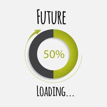Future Loading Concept. Vector Illustration