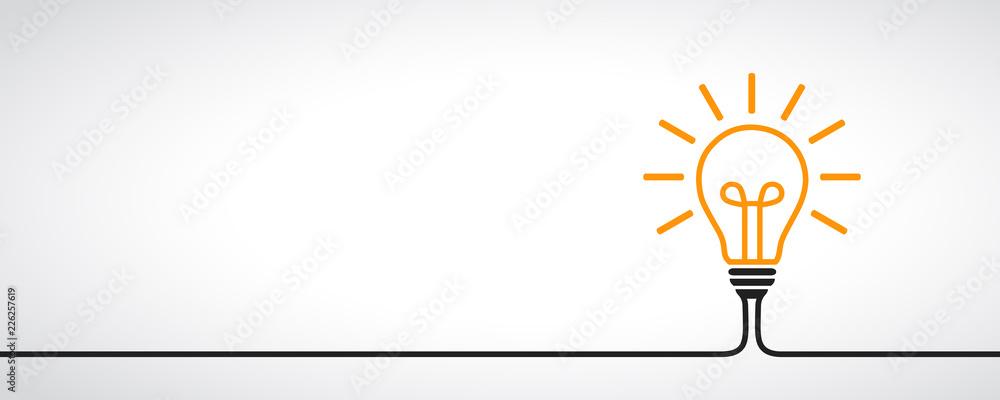 Fototapety, obrazy: Idea, creative concept sign bulb - vector