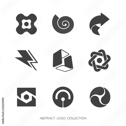 Obraz na plátně Abstract Industry Logo Collection. Vector graphics.