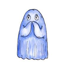 Cute Scared Ghost