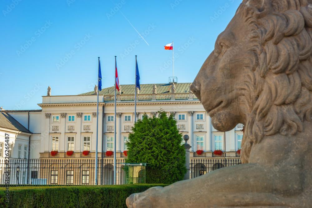 Fototapety, obrazy: Pałac Prezydencki, Centrum Warszawy, Polska