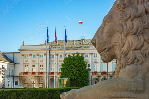 Obraz Pałac Prezydencki, Warszawa - fototapety do salonu