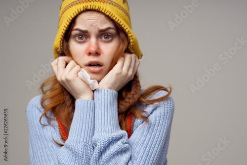 Fotografía woman has the flu