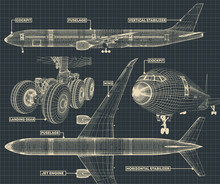 Civil Airliner Drawing Fragment