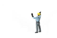 Miniature People Engineer Worker Construction Concept