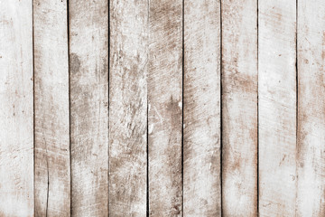 Fototapeta Vintage white wood background - Old weathered wooden plank painted in white color.