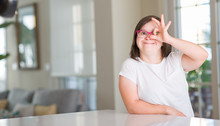Down Syndrome Woman At Home Wi...