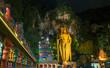 Leinwanddruck Bild - Batu Caves Kuala Lumpur Malaysia, scenic interior limestone cavern decorated with temples and Hindu shrines, travel destination in South East Asia trip.