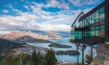 Aerial View Of Queenstown In S...