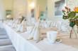 canvas print picture - feierliche Tischdekoration