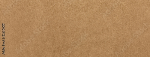 Foto  Light brown kraft paper texture banner background