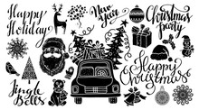 Christmas And New Year Hand Drawn Set