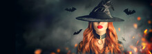 Halloween. Sexy Witch Portrait...