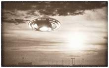 Alien Space Ship In The Sky, Illustration