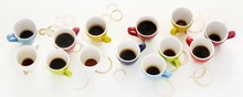 Colourful Cups Of Coffee