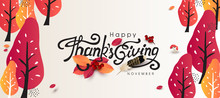 Thanksgiving Day Banner Backgr...