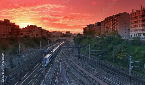 Papiers peints Paris Train and railways in Paris suburb