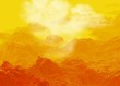 Rocky planet surface, illustration