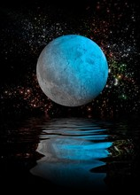Moon Reflecting On Water, Illustration