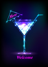 Neon Cocktail .Alcoholic Bever...