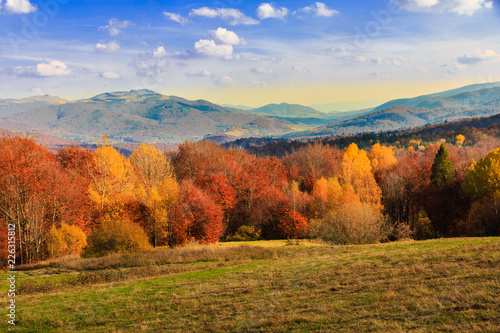 jesień w górach, Bieszczady