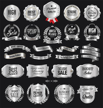 Collection Of Silver Badges An...