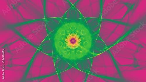 canvas print motiv - lavillia : Sternfoermiger Hintergrund - Leuchtendes Gruen auf Violett