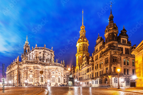 Old Town architecture in Dresden, Germany