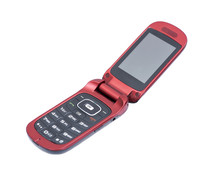 Old Used Flip Cell Phone Isola...