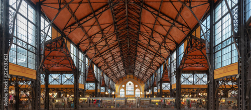 Roof of Central market hall in Budapest, Hungary Poster Mural XXL