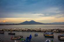 Vesuvius Panorama Seen From Naples