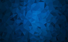 Dark BLUE Vector Polygon Abstr...