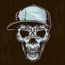 Skull Teenager Illustration