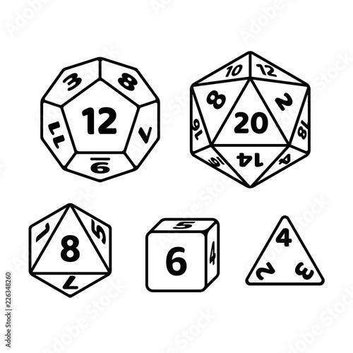 Game dice set Fototapete
