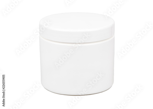 Photographie Plastic jar for cosmetics