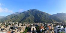Wide Angle Of Caracas Skyline, Venezuela