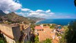 Time-lapse view of mediterranean houses at the coast of Taormina, Sicily.